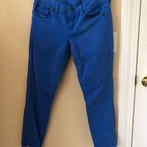 Bright blue toothpick J.Crew ankle pants